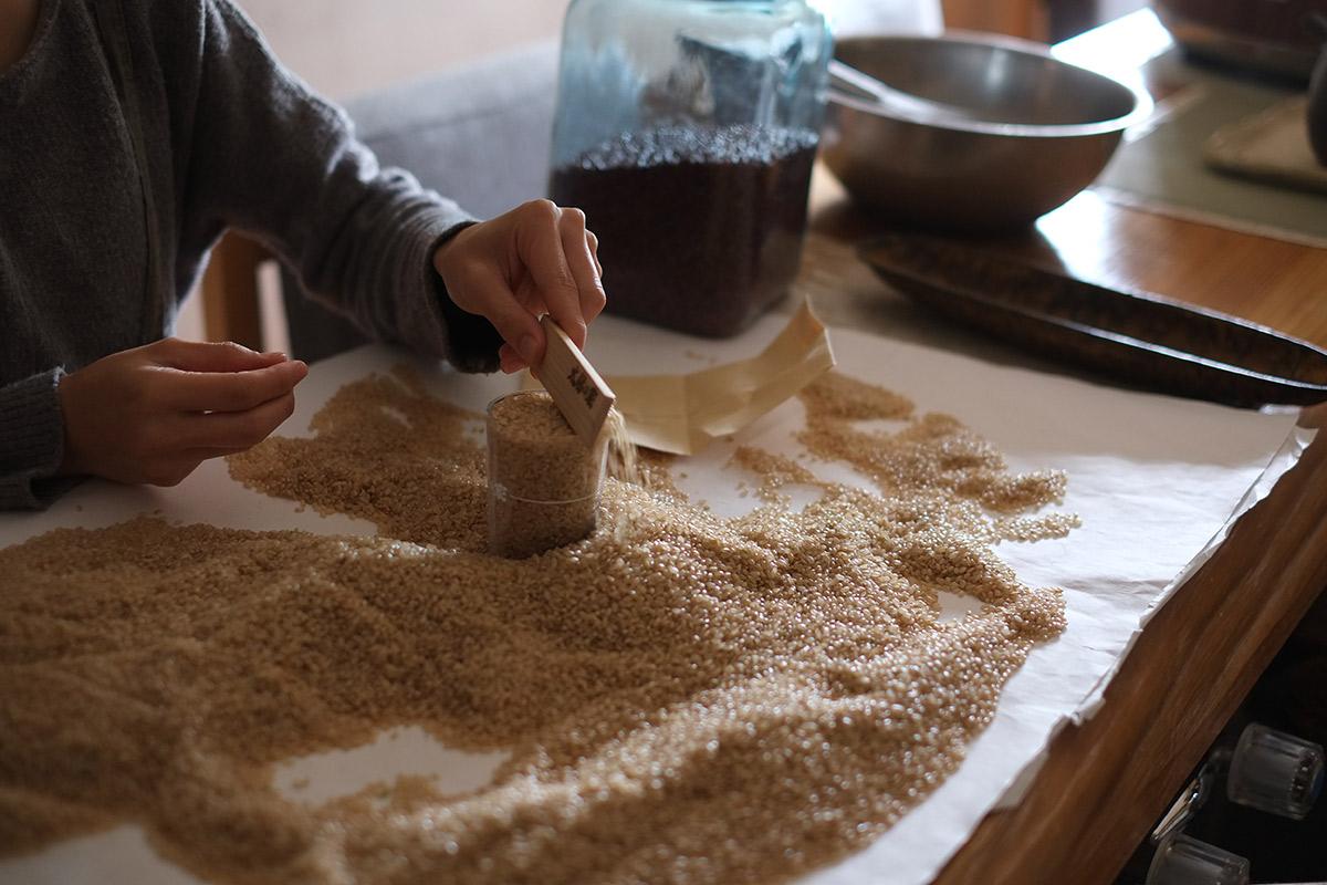 酵素玄米作りの工程