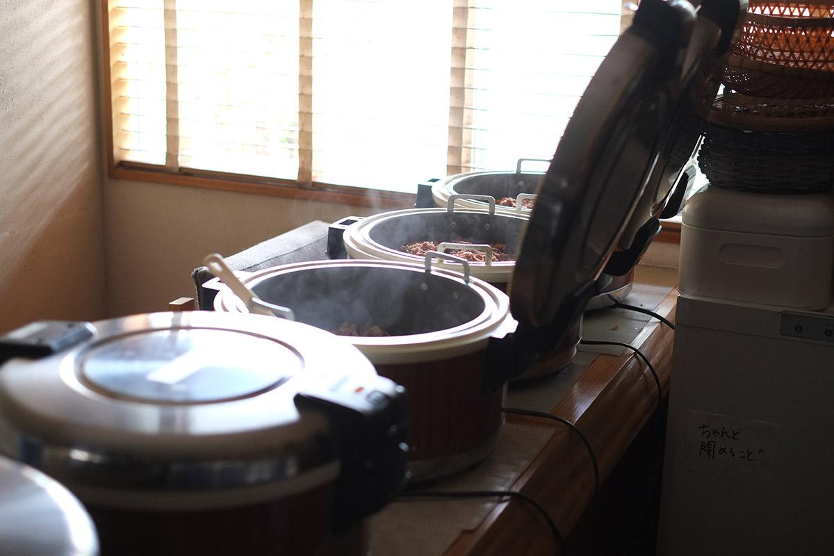 酵素玄米炊き上がりの様子